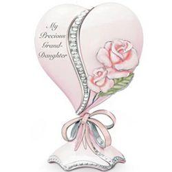 My Precious Granddaughter Heart-Shaped Porcelain Music Box