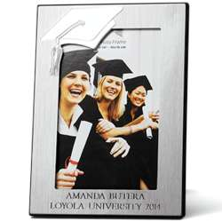 Personalized 4x6 Engraved Graduation Cap Picture Frame
