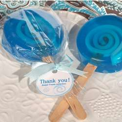 Sweet Treats Blue Lollipop Soap Favor