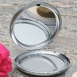 Engravable Round Compact Mirror