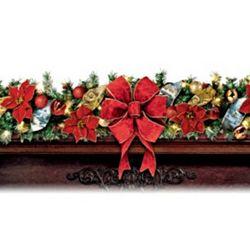 Thomas Kinkade Wondrous Holiday Pre-Lit Decorated Garland