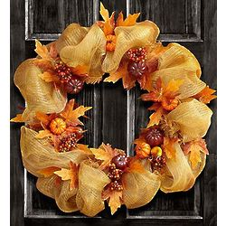 Large Fall Mesh Wreath
