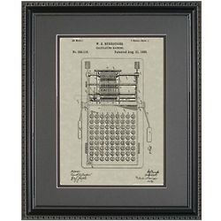 Calculator 11x14 Patent Framed Art