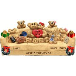 Grandparents and Grandchildren Personalized Christmas Figurine