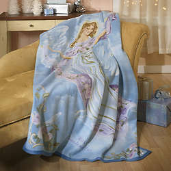 Personalized Angel Fleece Throw
