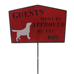 Guests Must Be Approved Garden Stake Sign