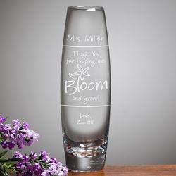 Personalized Teacher Appreciation Bud Vase