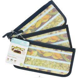 Navy Solid Re-Zip Snack Bags