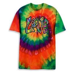 Love Tie Dye Transfer T-Shirt