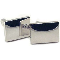 Engraved Silver Plated Cuff Link Set