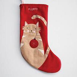 Felt Cat Holiday Stocking