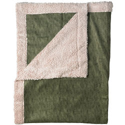 Solid Faux Suede Throw
