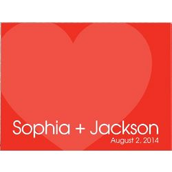 Personalized Hearts Canvas Art