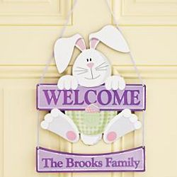 Personalized Easter Bunny Welcome Sign