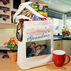 Our Hearts Personalized Photo Tote Bag
