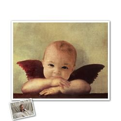 Personalized Angel Masterpiece Framed Art Print