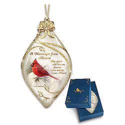 Messenger from Heaven Illuminated Cardinal Art Ornament