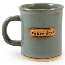 A New Day Quote Handmade Pottery Mug