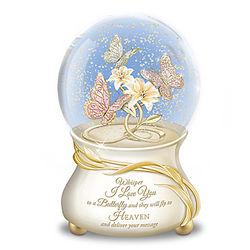 Message to Heaven Heirloom Porcelain Musical Glitter Globe