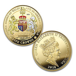 The Royal Wedding Harry and Meghan 5 Crown Proof Coin