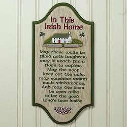 Irish Home Wall Plaque