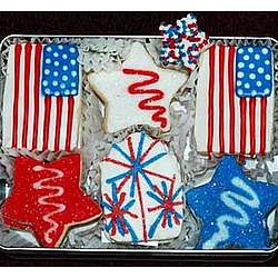Stars and Stripes Hand Decorated Sugar Cookies