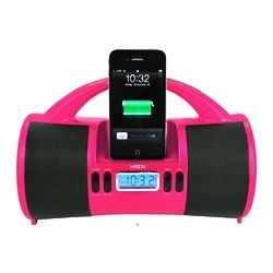 Portable Mini Boombox with iPod Dock