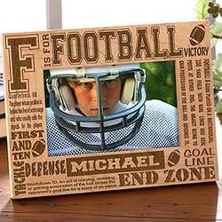 First and Ten Personalized Football Frame