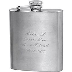Satin Finish Stainless Steel Flask