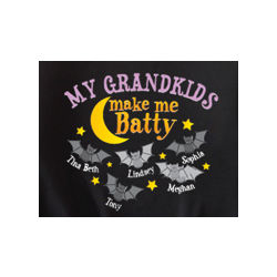 Personalized Batty Crewneck Sweatshirt