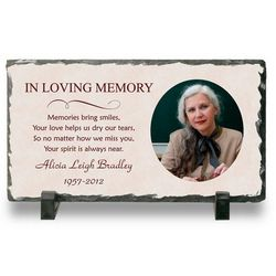 Personalized Memorial Photo Stone Plaque