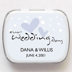 Personalized Hearts and Bubbles Wedding Mint Tins