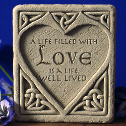 Celtic Love Stone Plaque