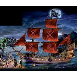 Pirates of the Caribbean Replica Ship Sculpture