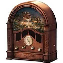 Classic Wooden-Cased Radio