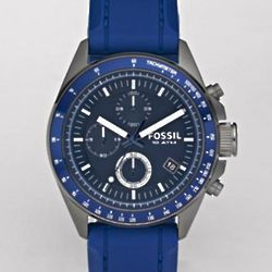 Silicone and Aluminum Watch in Blue