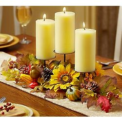 Sunflower Themed Centerpiece with Candles