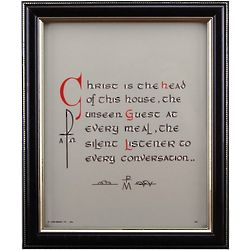 Christ is Head of House Framed Print
