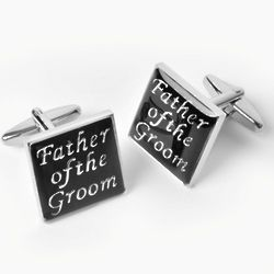 Father of the Groom Cufflinks with Personalized Case