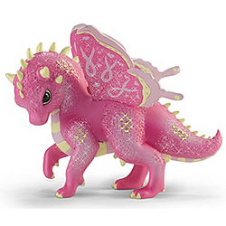 Elevating to Empower Pink Dragon Figurine