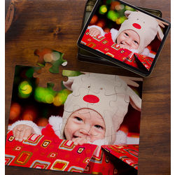 Personalized 25 Piece Photo Puzzle in Tin