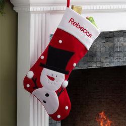 Santa's Helpers Embroidered Snowman Jumbo Stocking