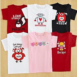 Personalized Kid's Valentine Apparel