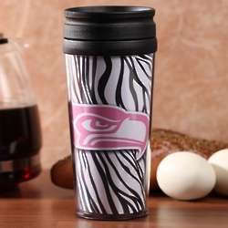 Seattle Seahawks Zebra Acrylic Tumbler with Lid
