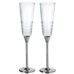 Avenue Silver-Plated Champagne Flutes