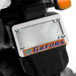 Florida Gators Hologram Chrome Motorcycle License Plate Frame