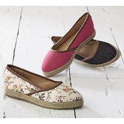 Women's Jute Trimmed Slip-On Shoes