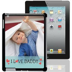 I Love Daddy Personalized iPad Case