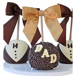 Father's Day Caramel Chocolate Dipped Apple Trio