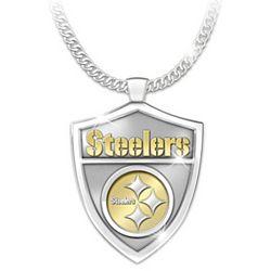 Ultimate Fan's Pittsburgh Steelers Shield Pendant